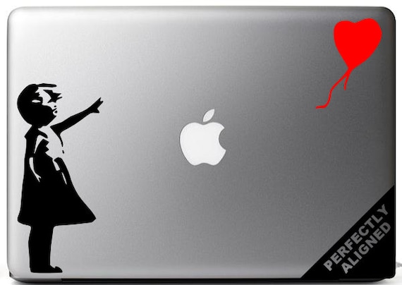 Vinyl Decal - Banksy style girl with the balloon for Macbooks, Laptops, Cars, etc...