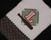 Personalized, appliqued burp cloth