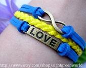 Bracelet-Ture love will be go on bracelet,love bracelet,infinity bracelet---ST073