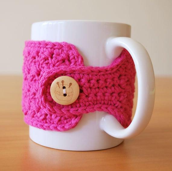 Hot Pink Mug Cozy
