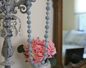 Vintage Blue Beaded Long Necklace