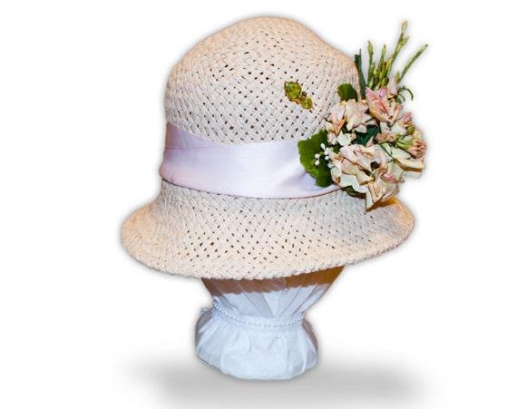 Downton Abbey Edwardian / Roaring Twenties inspired Flapper Cloche Hat by Austentation: Mary's Garden Pary