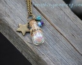 Dream in The Starry Night Vial Necklace