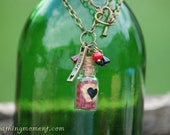 Contain My Red Heart Vial Necklace
