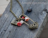 Rosey Red Love Locked Up Necklace