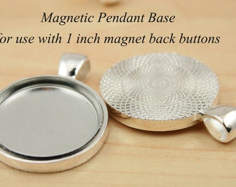 200 NEW Sturdy Magnetic Pendants for use with 1 inch Interchangeable Magnet Back Buttons  - Affordable