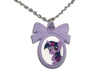 Twilight Sparkle Cameo Necklace, Lilac My Little Pony, Friendship is Magic