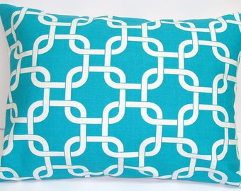 TURQUOISE PILLOW.12x20, 16x20 or 16x24 inch.Pillow Cover.Decorative Pillows.Housewares.Lumbar Pillow Cover.Turquoise Blue Pillow.Cushions.Cm