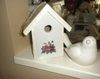 Decorative Mosaic Bird House,Shabby chic,French Country,Garden,French,Cottage,Cottage chic,Eclectic,Nursery Decor,Kitchen Decor