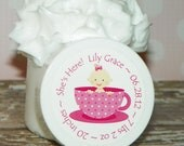 Whipped Body Butter - 10 Baby Girl Birth Announcements (Teacup Baby)
