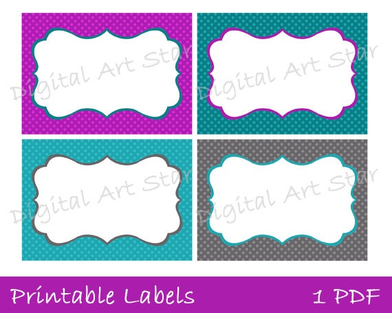 Blank Printable Tags: Items Similar To Printable Labels, Tags