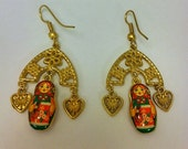Babushka Earrings Matryoshka Free Shipping
