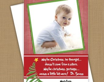 Christmas Photo Cards- grinch quote