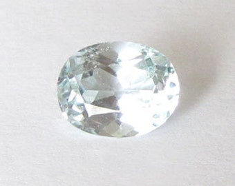Natural Light Blue Topaz, Untreated, Oval Cut, 3.20 carats