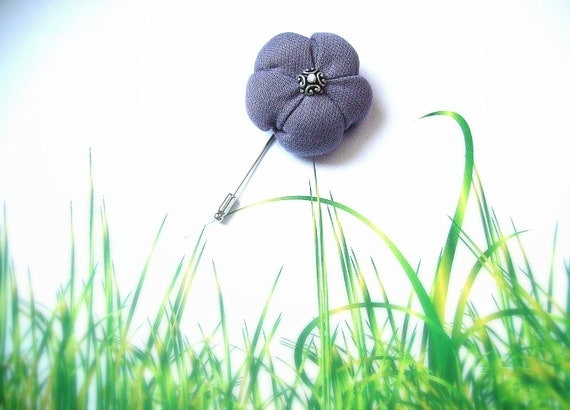 Lilac brooch Purple pin Fabric flower Lavender Dahlia - Ready to ship - Custom