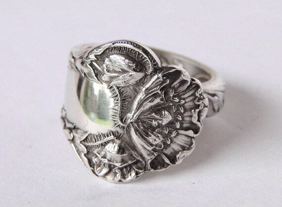 items similar to sterling silver spoon ring ornate fork