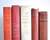 Fall Book Collection Decor - Cranberry, Burgundy, Orange