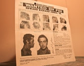 RARE FBI Wanted Poster - Original - Wanted By FBI - Edward Richard Jones, Jr. - 1978 - BrandosFunkyFinds - Boxing Day Sale