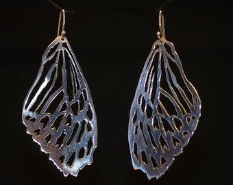 Zebra Butterfly Wings Earrings