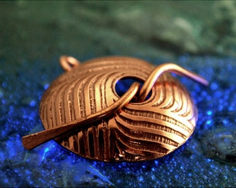 Japanese Illusion copper toggle clasp - Handmade