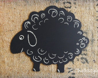 Large Sheep Shaped Chalkboard for Kids Parties, Room or Home Decor