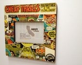 Cheap Thrills// Original Vinyl Album Cover Pic. Frame // up cycled wall art
