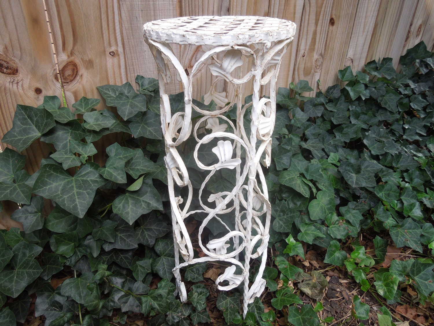 Vintage Wrought Iron Plant Stand White Wrought Iron Garden. Interior Glass French Doors. Stone Shower Walls. Water Closet. River White Granite. Oval Bathtub. Crown Molding Styles. Alure Home Improvements. Window Trellis