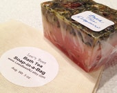 Bath Tea Soap Bar in a Bag, Dried Herbs and Delicious Potpourri Fragrance in Muslin Scrubby Bag