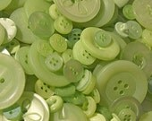 100 Spring Green Buttons