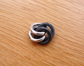 Bead Friend, 2 tone textured & oxidised - Sterling Silver
