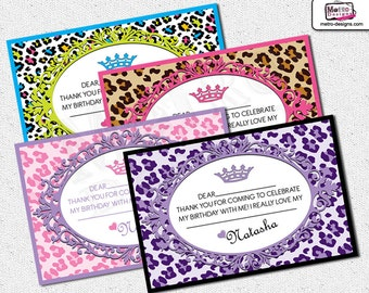 Leopard Print Thank You Cards, Leopard Print Thank You Notes, Leopard Print Cards, Animal Print Thank You Cards, Cheetah Thank You Cards,