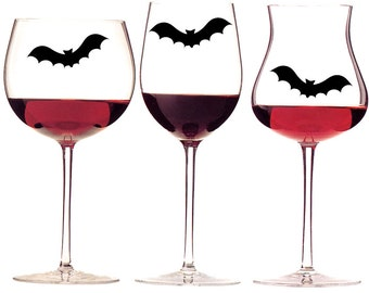 Glass Decals, Bat Stickers, Halloween Decor, Set Of 20 Bats, Vinyl Decal, Halloween Decals, Halloween Party Decoration, Bat Decals ID18P