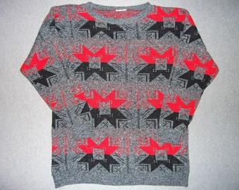 Amazing Vintage Nordic Ski Sweater Snowflakes Skiing Snow Winter Wonderland Tacky Gaudy Ugly Christmas Party X-Mas Warm XXL 2X