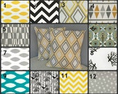 TWO, 26 x 26 inch Pillow Cases, 33 Fabrics to Choose From