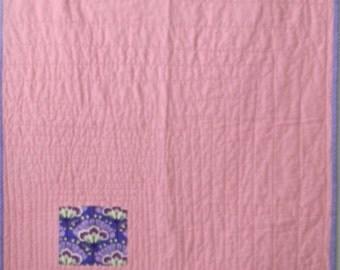 Modern Pink Linen Baby/Toddler Quilt