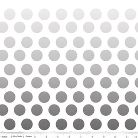 Ombre Dot by Riley Blake Design- grey- last 24 inches