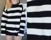 Chunky SAILOR SWEATER Black and White