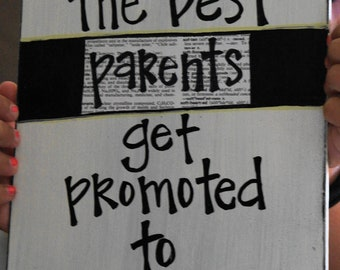 Best parents get promoted to grandparents card