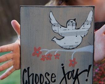 choose joy handmade wood card