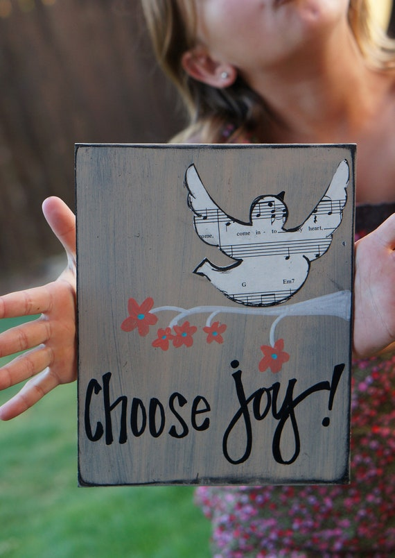 choose joy handmade wood card