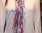 Red, White, Blue Salute Knotty Little Scarf 13-41