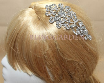 Victorian Memory Rhinestone Crystals Wedding Bridal Dress Hair Comb / Sash BRH00507