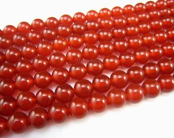 stone bead,carnelian round bead 6mm,15 inch