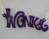 RESERVED for EMMA KITCHIN Wonka Purple Laser Cut Necklace