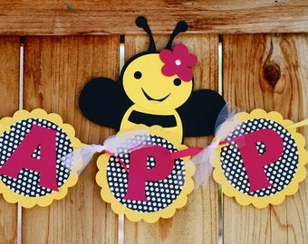 Bumble Bee  Happy Bee Day Banner