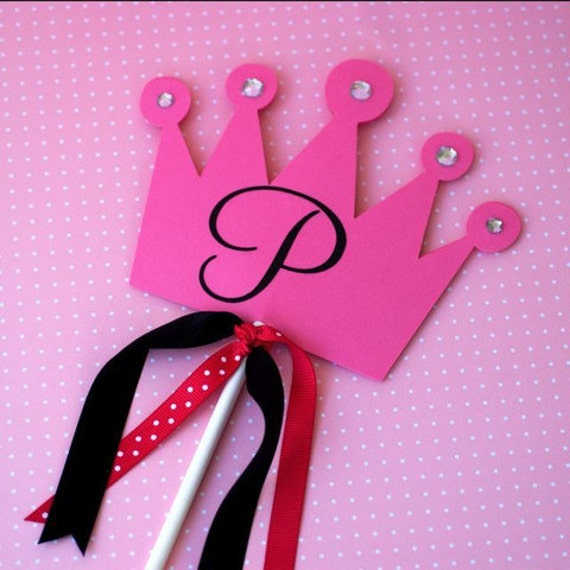 Princess Crown Cake Topper or Centerpiece by Pretty Paper Party