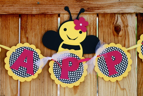 Bumble Bee  Banners and Signs - RESERVED for Angela