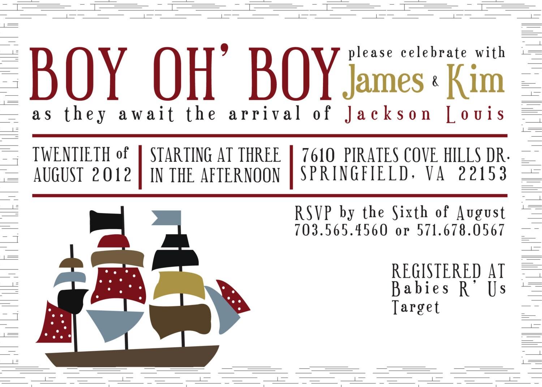 pirate baby shower invite by klacapra on etsy