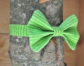Bow Tie - Lime Lines