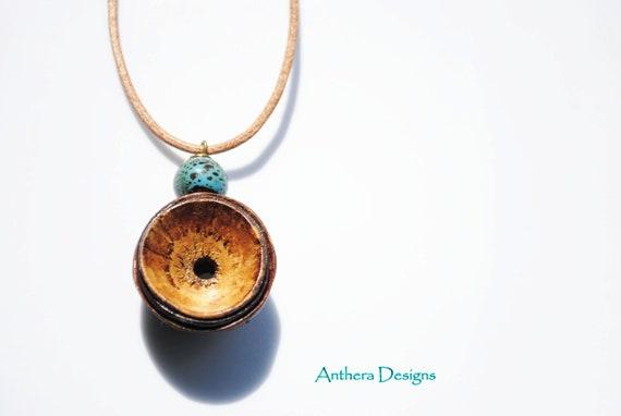 Necklace  for Men or Women -Unique  Natural Jewelry - Eco Friendly - Acorn